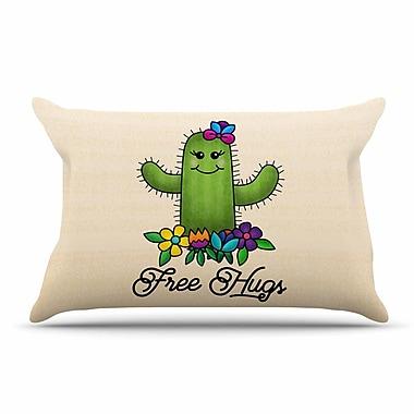 East Urban Home Noonday Design 'Free Hugs Cactus' Pastel Pillow Case