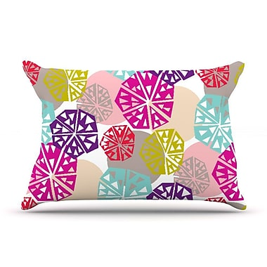 East Urban Home Agnes Schugardt 'Pie In The Sky' Rainbow Abstract Pillow Case