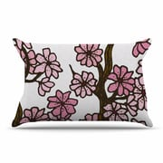 East Urban Home Art Love Passion 'Cherry Blossoms' Pillow Case