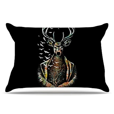 East Urban Home BarmalisiRTB 'There Is No Place' Deer Pillow Case
