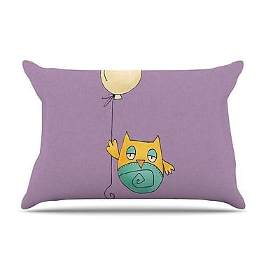 East Urban Home Carina Povarchik 'Lechuzita En Ballon' Owl Pillow Case