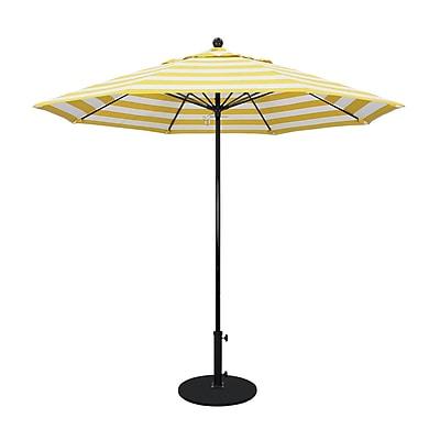 California Umbrella 9' Market Umbrella; Citron WYF078279565060
