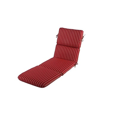 Buyers Choice Phat Tommy Outdoor Sunbrella Chaise Lounge Cushion; Crimson