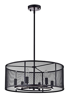 Edvivi Aludra Metal Mesh 6-Light Drum Chandelier
