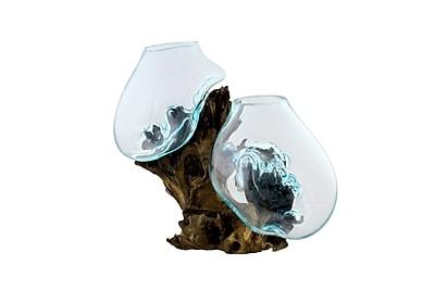 Cohasset Gifts & Garden Standing Double Molten Glass Sculpture