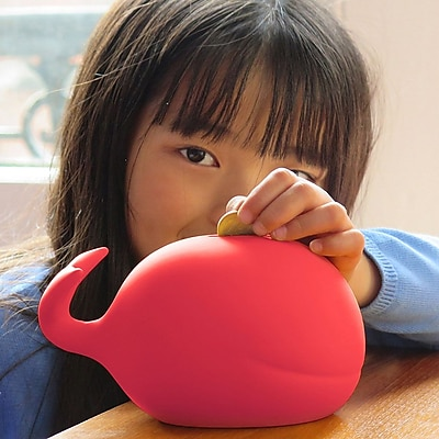 Maia Ming Designs Whale Piggy Bank; Pink
