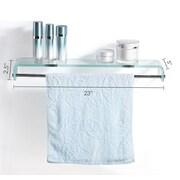 Fab Glass and Mirror 28'' W Glass Bathroom Shelf; Clear Crystal