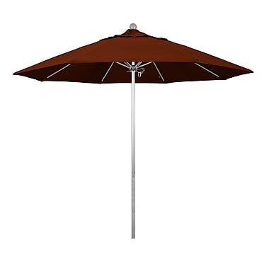 Buyers Choice 9' Phat Tommy Silver Anodized Market Umbrella; Black