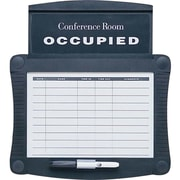 Quartet Conference Room Scheduler Wall Mounted Dry Erase Board