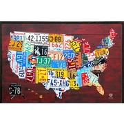 Frame USA Architect 'License Plate Map of the US Poster' Framed Graphic Art Print, Poster