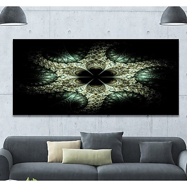 DesignArt 'Yellow and Green Fractal Flower' Graphic Art Print on Wrapped Canvas