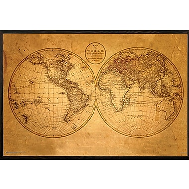 Frame USA Architect 'Old World Map' Framed Graphic Art Print, Poster