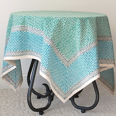 Sustainable Threads Rosettes Cotton Tablecloth