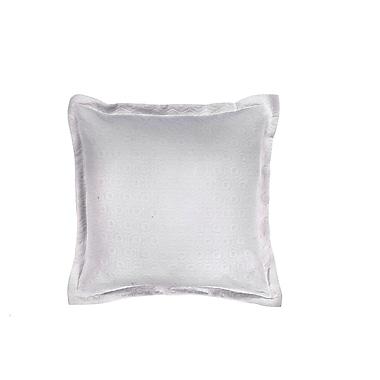 Spectrum Home Textiles Quinn Jacquard Cotton Throw Pillow; White