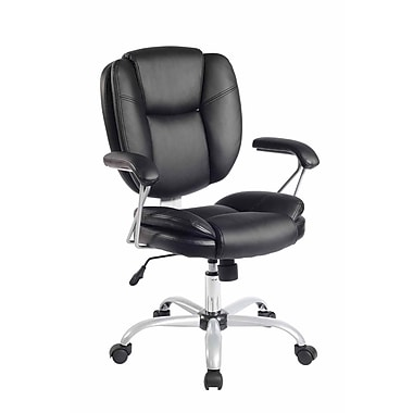 Techni Mobili Plush Task Chair, Black (RTA-0930-BK)