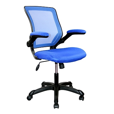 Techni Mobili Mesh Task Office Chair with Flip-Up Arms, Blue (RTA-8050-BL)