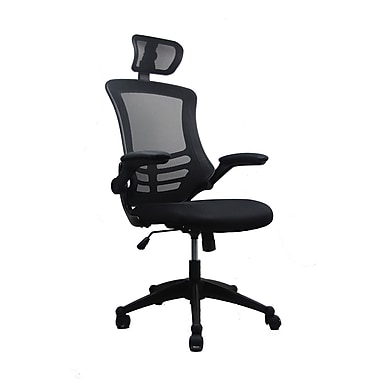 Techni Mobili Modern Mesh Executive Office Chair with Flip Up Arms, Black (RTA-80X5-BK)