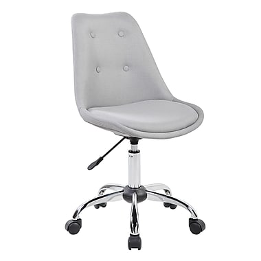 Techni Mobili Armless Task Chair with Buttons, Gray (RTA-K460-GRY)