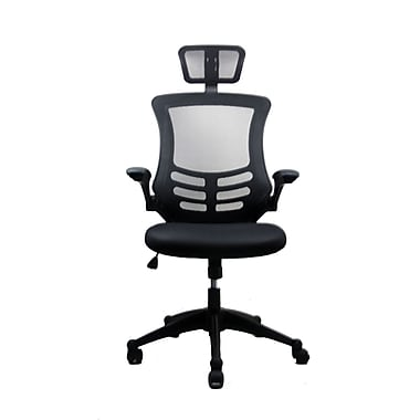 TechniMobili Mesh Computer and Desk Office Chair, Black (RTA-80X5-SG)