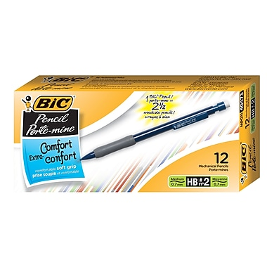 BIC® – Portemines Matic Grip®, 0,7 mm, paq./12