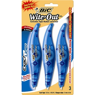 White out tape bic wite out exact liner 3pack publicscrutiny Gallery