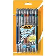 BICMD – Portemine Xtra-Precision de , 0,5mm, barillet métallique, couleurs variées, paq./24