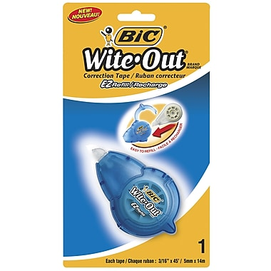 BIC® Wite-Out® EZ Refill Correction Tape Refills, 2/Pack
