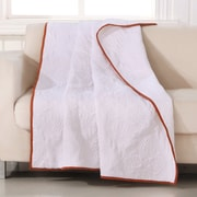 Barefoot Bungalow Cameo Throw; Whisper White