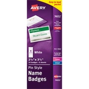 Avery Pin Style Name Badges