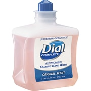 Dial Complete Antibacterial Foam Handwash Refill, 33.8 fl oz, Hypoallergenic, Rich Lather, 1 Each