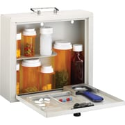 MMF Deluxe Steel Medication Case, Combination, Programmable Lock, Platinum, Steel