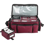 "MMF Med-Master Carrying Case for Medicine, Burgundy, 8.5"" Height x 18.5"" Width x 9.5"" Depth"