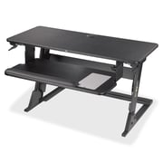 "3M Precision Standing Desk, Up to 24"" Screen Support, 35 lb Load Capacity, 35.4"" H x 23.2"" W x 6.2"" D, Steel, Black"