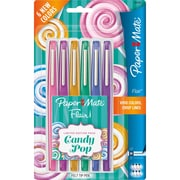 Paper Mate Flair Candy Pop Limited Ed Felt Tip Pen, Medium Point Type, Assorted, 6Pack