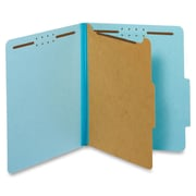 "Pendaflex 1-Divider Classification Folders, Letter, 8 12"" x 11"" Sheet Size, Blue, Recycled, 10Box"