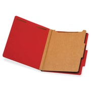 Pendaflex 1-Divider Classification Folders, Letter, Bright Red, Recycled, 10Box