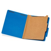 Pendaflex 1-Divider Classification Folders, Letter, Dark Blue, Recycled, 10Box