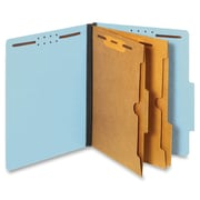 Pendaflex Pocket Divider Classification Folders, Letter, Blue, Recycled, 10Box