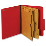 Pendaflex Pocket Divider Classification Folders, Letter, Bright Red, Recycled, 10Box
