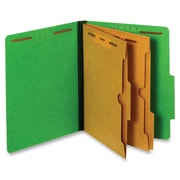 Pendaflex Pocket Divider Classification Folders, Letter, Dark Green, Recycled, 10Box