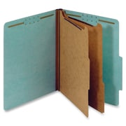 Pendaflex 2-Divider Pressboard Classification Folders, Letter, Blue, Recycled, 10Box