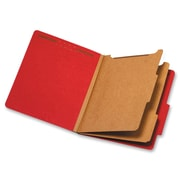 "Pendaflex 2-Divider Pressboard Classification Folders, Letter, 8 12"" x 11"" Sheet Size, Bright Red, Recycled, 10Box"