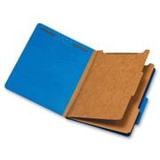 Pendaflex 2-Divider Pressboard Classification Folders, Letter, Dark Blue, Recycled, 10Box