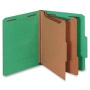"Pendaflex 2-Divider Pressboard Classification Folders, Letter, 8 12"" x 11"" Sheet Size, Dark Green, Recycled, 10Box"
