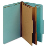 Pendaflex 2-Divider Pressboard Classification Folders, Legal, Blue, Recycled, 10Box