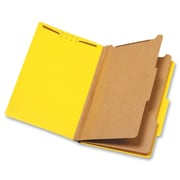 Pendaflex 2-Divider Pressboard Classification Folders, Legal, Yellow, 10Box