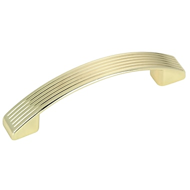 Richelieu 3 7/9'' Center Arch Pull; Brass