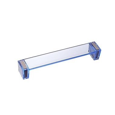 Richelieu 6 3/10'' Center Bar Pull; Clear Blue