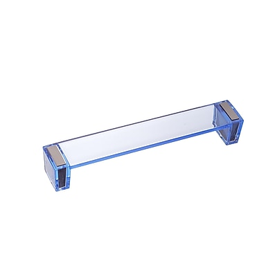 Richelieu 6 3/10'' Center Bar Pull; Clear Blue
