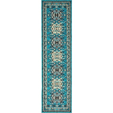 World Menagerie Sina Turquoise Area Rug; Runner 2'2'' x 8'2''
